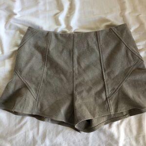 Free people grey peplum style shorts